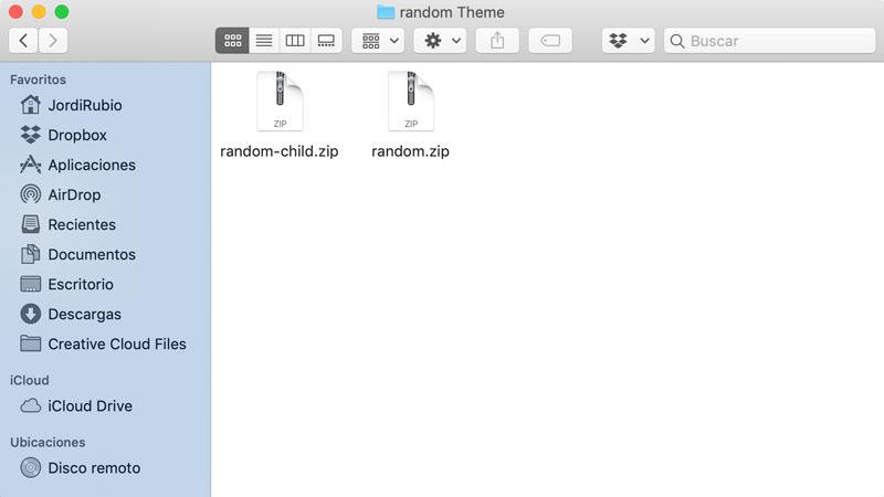 archivos para instalar un tema