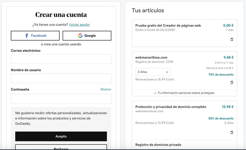 crear blog en wordpress godaddy