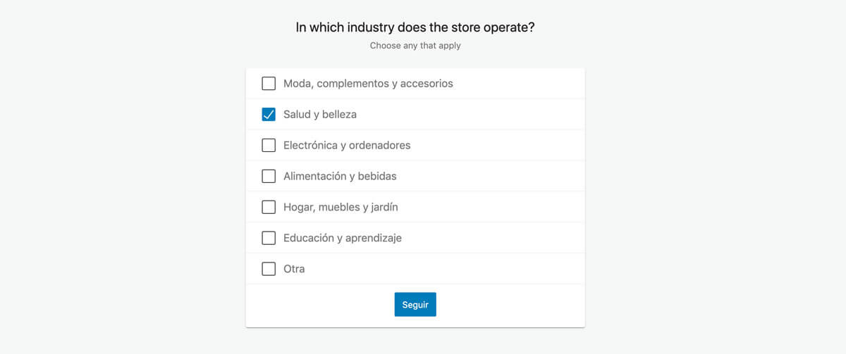 elegir industria de tu tienda online