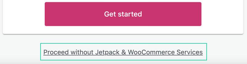 Saltar instalación de Jetpack